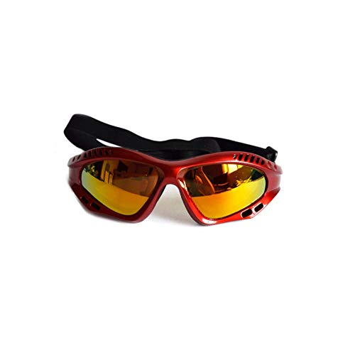 iHOMIKI Pet Dog Goggles Windproof Anti-Fog Glasses Eyewear Dog Sunglasses Pet Supplies for Large Dog UV Protection Red