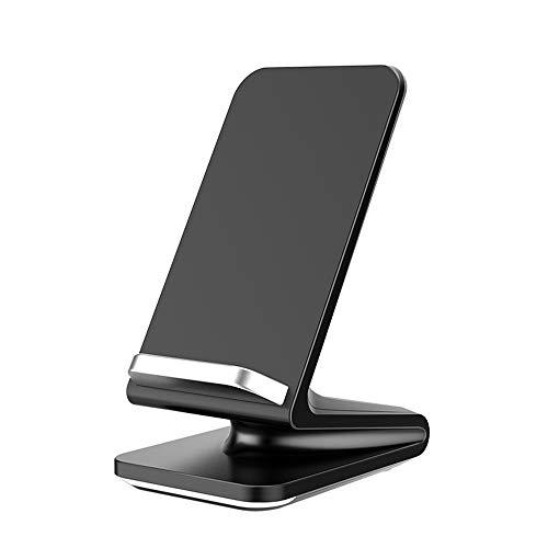 Fast Wireless Charger, Qi Induktive Ladestation mit Lüfter 10W Kompatibel Samsung Galaxy S9/S9+/S8/S8+/Note 8/S7/S7 Edge/S6 Edge, 7.5W Kompatibel iPhone 8/8 Plus/iPhone X/XS/XS MAX/XR, Black