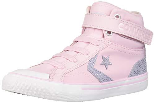 Converse Pro Blaze Strap Hi 663602C Junior-Sneaker Pink Foam/Oxygen Purple Gr. 35 (US 3) (Fun Kids Ga)