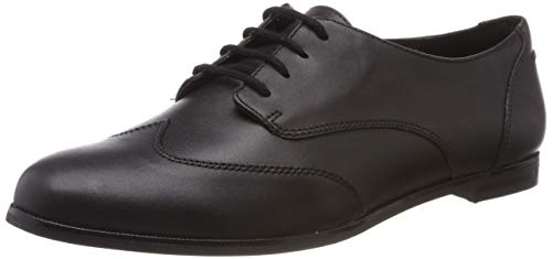 Clarks Damen Andora Trick Derbys, Schwarz (Black Leather), 40 EU