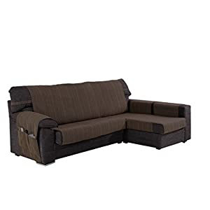 Martina Home Ribera Covers Chaise Longue, Right Arm 32x240x8 cm brown