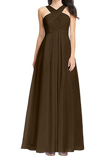 Ivydressing -  Vestito  - linea ad a - Donna Cioccolato