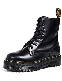 Dr. Martens, Jadon 8-Eye Platform Boot per Uomo e Donna, Bianco Lucido Liscio, 6 US Donna/5 US Men