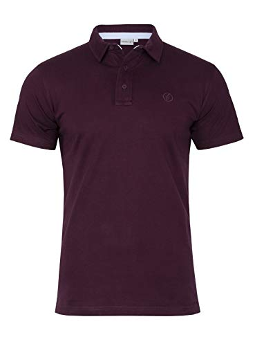 Klassisches Kurzarm-polo-shirt (Banqert Herren Polo, Faire Löhne, Made in Mauritius Poloshirt-s Polohemd-en Funktionsshirt Männer Shirt-s Kurzarm einfarbig-e Rot Weinrot Burgund S)