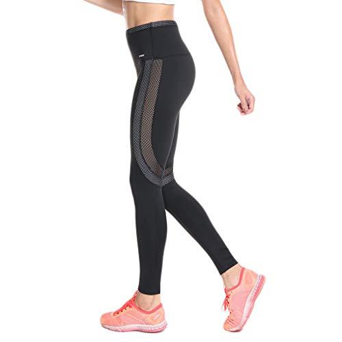 LianMengMVP Pantaloni Yoga da Donna Elastici Leggings Donne Pantaloni di Corsa con Inserti in Rete Fitness Yoga Pantaloncini Sportivi Leggings da Donna con Tasche Lat