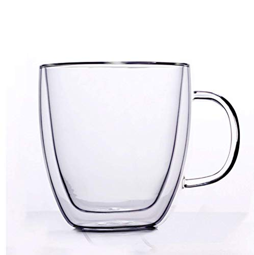 dishwasher With Glass Kingdao Double Cups Handle Microwave Or Insulated Wall Mugs Coffee Tea Thermo Safe Clear latte uniqueamp; N08vmwOn