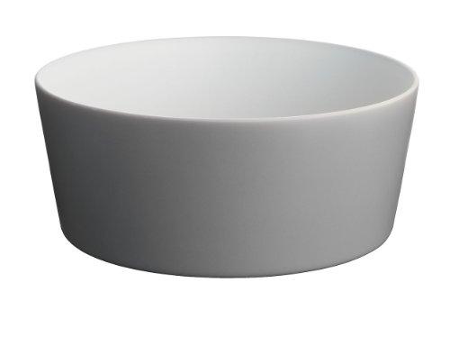 Alessi Dc03/38 Dg Tonale Saladier en Céramique Stoneware, Dark Grey