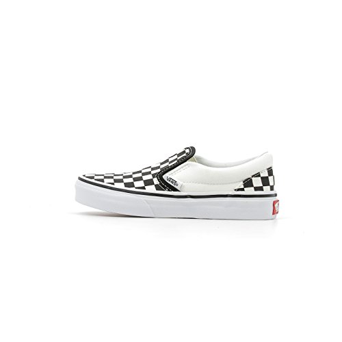 Vans Classic Slip on Kids Shoes 28 EU (Checkerboard) Black True White