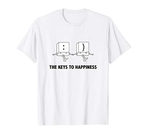 The keys to happiness funny nerd Gift T-Shirt