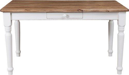 Tavolo-scrittoio-Country-in-legno-massello-di-tiglio-struttura-bianca-anticata-piano-finitura-naturale-120x80x80-cm