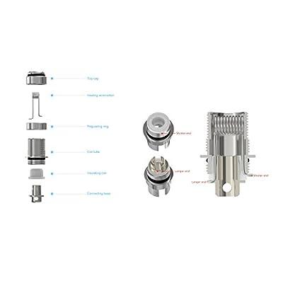 DIY-24H - Joyetech 5er Pack eGo ONE CLR - 1.0 Ω Ohm RBA Coils Head Verdampferköpfe für eGo ONE / Mini / Mega / XL von DIY-24H