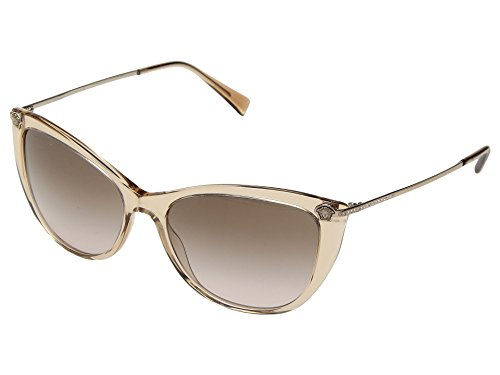 Versace Damen 0VE4345B 521513 57 Sonnenbrille, Braun (Transparent Light Brown/Browngradient),