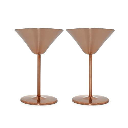 Bronze Bar (Xiton 2ST Edelstahl Martini Kelch Cocktailglas Bar Pub Trinkgefäße Cocktail Goblet Martini Cup Bronze)
