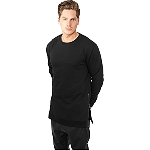 Urban Classics Sweater Side Zip Crew, Color:black;Größe:2XL