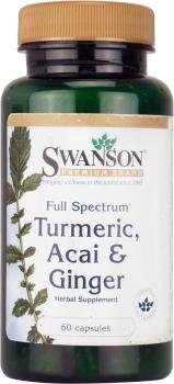 Swanson Full Spectrum Turmeric, Acai & Ginger (60 Capsules) from Swanson Health Products