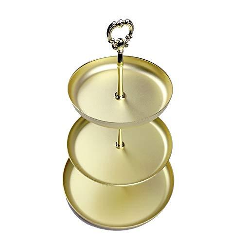 1 Schublade Traditionellen Nachttisch (CTNAN 3 Tier Trinket Aufbewahrungstablett, Metall Kosmetik Schmuck Organizer Platte für Ring Halskette, kleine Schmuck, Handtücher Make-up Parfüm)
