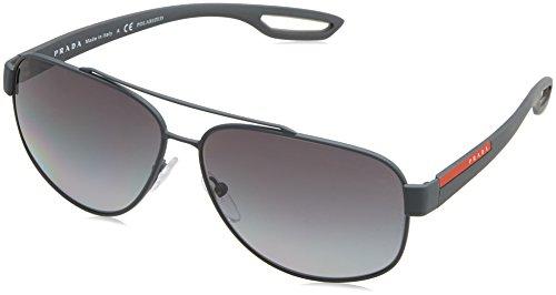 Prada Sport Herren 0PS58QS TFZ5W1 60 Sonnenbrille, Grau (Grey Rubber/Polargrey),