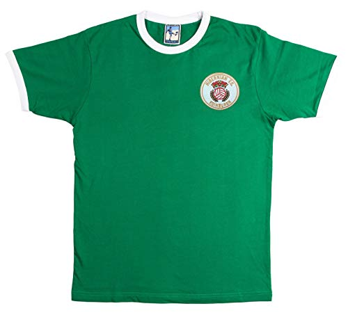 Hibernian 1980s Football T Shirt Sizes S-XXL Embroidered Logo