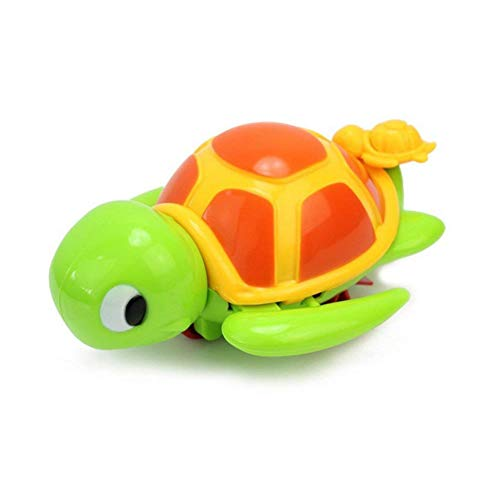 Sungpunet Creative Pool Toy Cute Turtle Animal Swimming Toy Cute Wind Up Chain Baby Toddler