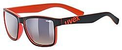 uvex Unisex- Erwachsene, lgl 39 Sonnenbrille, black mat red, one size