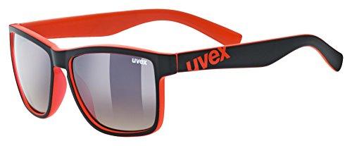 Uvex Unisex Erwachsene lgl 39 Sportbrille, Black Mat red, One Size