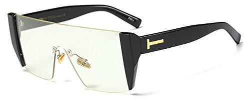 Sonnenbrille Mode Hälfte Rahmen Frauen Quadratische Sonnenbrille Designer Männer Rot Getönte Linse Brille Schwarz Klar
