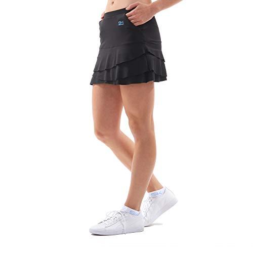 Sportkind Mädchen & Damen Tennis/Hockey/Golf Tulip Rock mit Taschen & Innenhose, schwarz, Gr. S