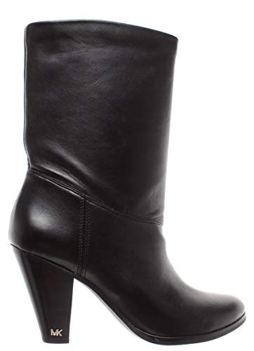 Michael Kors Chaussures Femme Bottes Divia Bootie Leather 40F8DVHE5L Black Cuir