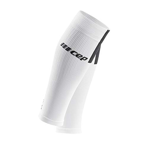 Kompression Bein (CEP - Calf Sleeves 3.0 für Herren | Beinstulpen für exakte Wadenkompression in weiß/grau | Größe III)