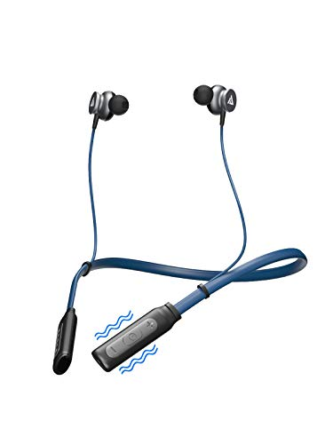Boult Audio Curve Neckband Wireless Bluetooth IPX4 Sweat Proof Earphones, Noise Isolation with HD Bass Headphones for Workout, 12hrs Playtime Headset with Built-in mic for Android and iPhone (Blue)