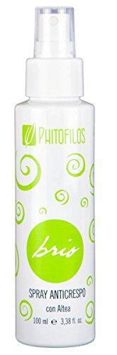 PHITOFILOS - Brio Spray Anticrespo con Altea Biologica - Perfetto per Capelli Crespi Secchi,Danneggiati,- Con Semi di Lino - Naturale, Vegan e Made in Italy - 100 ml