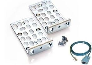 """Cisco 2960/3550/3560/3750 19"""" 1U Rack Mount Kit 800-16852-02 + FREE Console Cable + FREE 1U cable guide"""