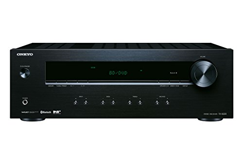Onkyo TX-8220(B) Stereo Receiver (Hifi Verstärker 100 W/Kanal, Multiroom, Bluetooth, Streaming, DAB+/FM/RDS-Radio, MM-Phono-Vorverstärker für Plattenspieler), Schwarz