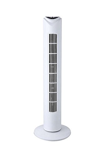 Höhe Turm (Standventilator mit Fernbedienung 3 Stufen (Turm-Ventilator oszillierend,  45 Watt, Timer Höhe 74 cm, Kabel 1,8 m))