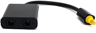 Fiimi - Duplicador de audio digital Toslink, 1 entrada - 2 salidas, color negro