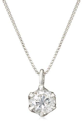 [Dee Collection] d-collection [mit Diskriminierung Karte] Platinum Diamant Halskette 0,2ct dptnc026