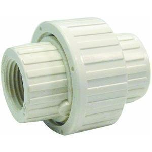 B and K 164-136 PVC Schedule 80 Threaded Union, 1-1/4 by B and K