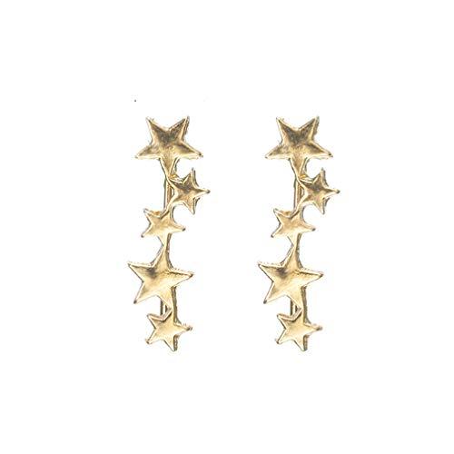 imber - Kleine verknüpfte geometrische Pentagramm-Ohrmanschette, Gold ()