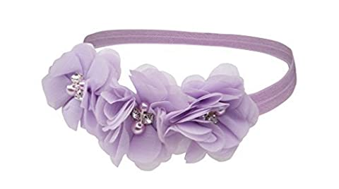 Petals Lavender Headband for Baby Girl with Flower Accents by Cherished Moments