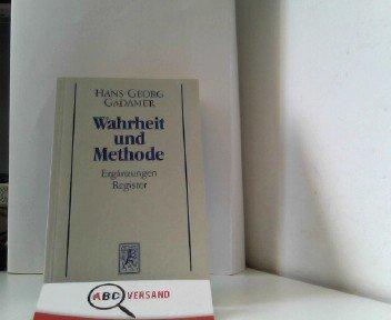 Hermeneutik II. Wahrheit und Methode. Studienausgabe.