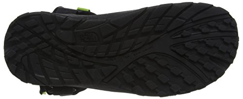 The North Face Litewave, Sandales Plateforme homme Multicolore (Tnf Black/Macaw Green  Eww)