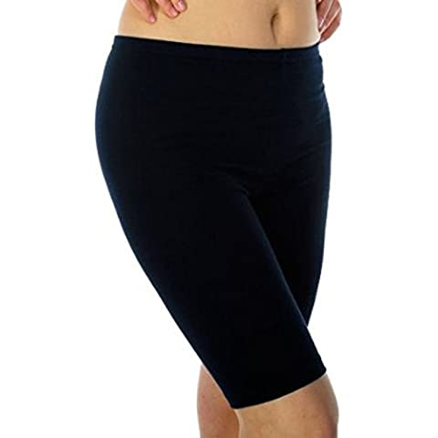 2 pcs donna elasticizzate in cotone-Lycra-pantaloncini sopra il ginocchio aktiv leggings (2195)