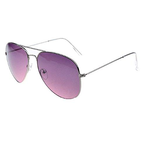 Vivienfang - Lunettes de soleil - Homme Purple Frame Light Purple Mirror FTB8Qt