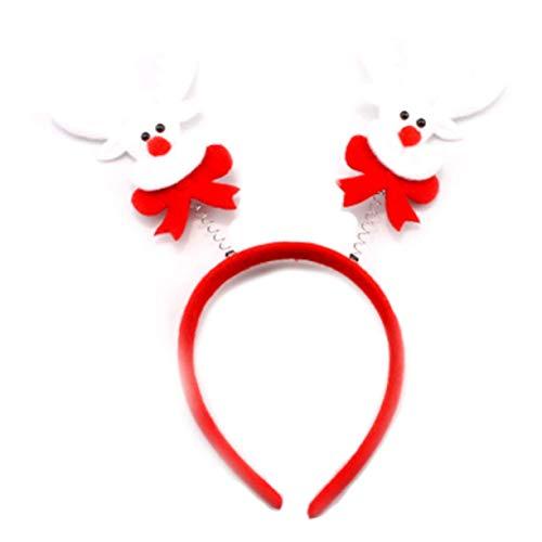 YuzhouGJ Glaubwürdige Mode 2Pcs Erwachsene Kinder Weihnachten Stirnband Hut Kostüm Haarspange Rentier - 01