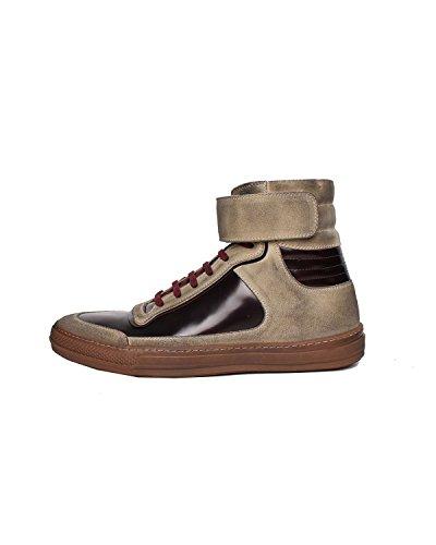 DIESEL BLACK GOLD - Sneakers A collo alto da Uomo ALEN-MB - Marrone (Bone White / Burnt Hen H4978), 41