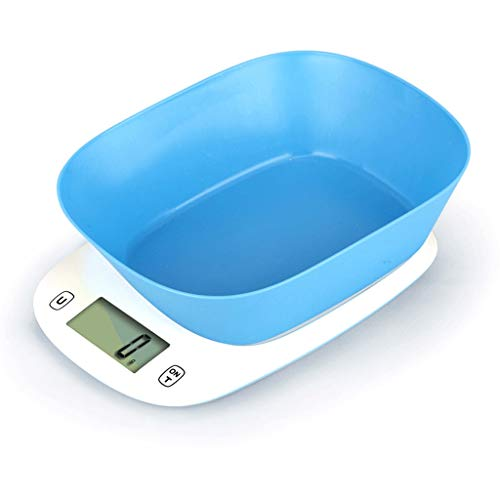 Liyong bilancia da cucina digitale con bilancia elettronica bilancia da cucina in abs (con ciotola) (colore : blu)