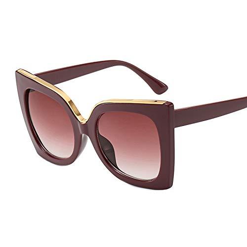 Yangjing-hl Big Box Sonnenbrillen Trend Brillen Mode Sonnenbrillen roten Rahmen roten Tabletten