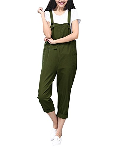 Styledome Women's Loose Casual Baggy Pocket Sleeveless Retro Adjustable Strap Long Jumpsuit Playsuit Trousers Pants Overalls Dungarees Test