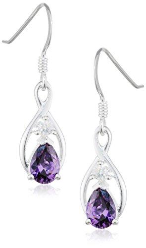 elements-damen-ohrhanger-925-sterling-silber-kristall-zirkonia-violett-e4448m