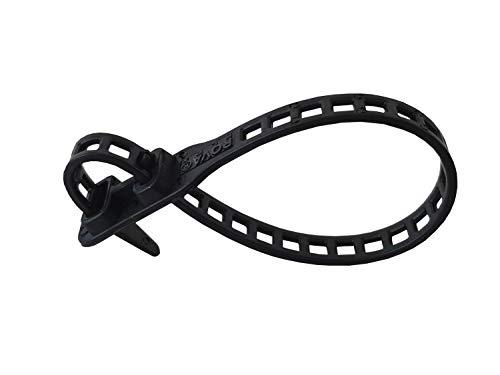 10 x Soft Flexbinder Kabelbinder 11x340mm schwarz (Schwarze Kabelbinder Weich)